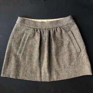 J. Crew Vintage Tweed Wool Skirt Size 00
